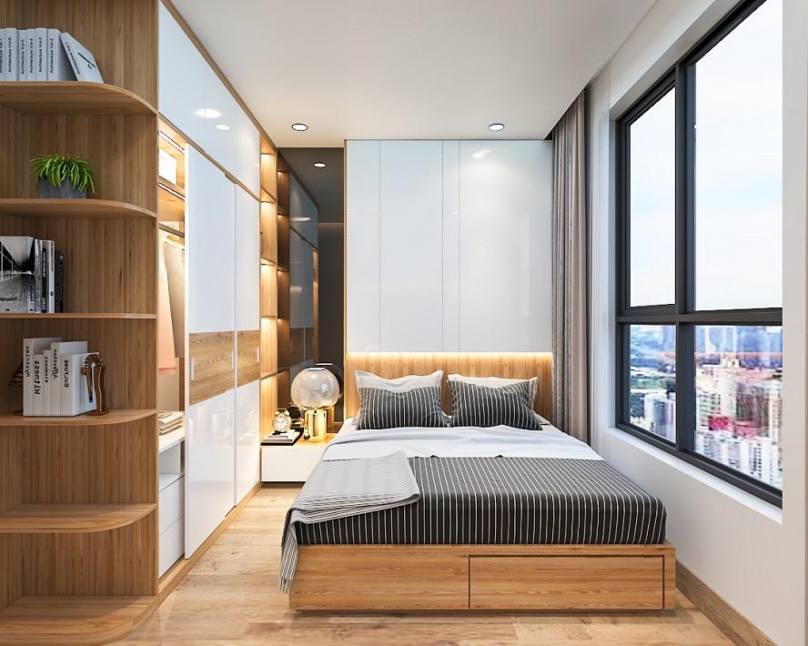 Phòng ngủ căn hộ Bcons Suối Tiên