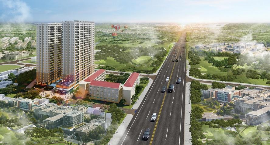 Phối cảnh tổng thể dự án Bcons Green View